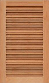 Louvered wooden cabinet