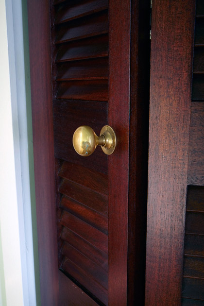 Custom Wooden Louvered Door Closeup : louvers doors - pezcame.com